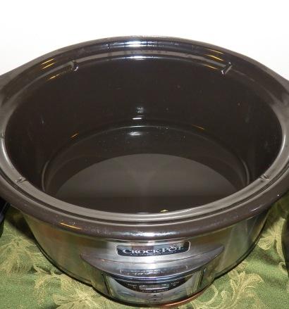 water in crockpot
